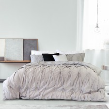 Lace Embellished Quilt Cover Set
