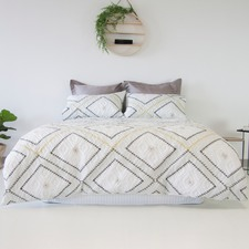 Poncho Embossed Quilt Cover Set
