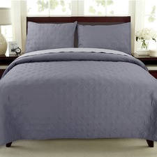Oxford Reversible Coverlet Set