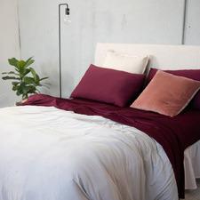 Burgundy Plain Dyed Xtra Sheet Set