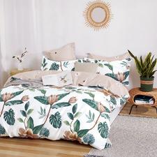 Multi-Coloured Bahti Cotton Reversible Quilt Cover Set
