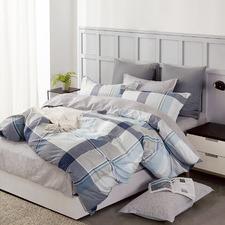 Grey Kristopher Cotton Quilt Cover Set