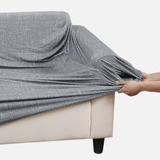 Grey Stretch Sofa Cover