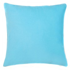 Sky Blue Cotton Velvet Euro Cushion