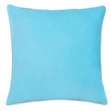 Sky Blue Cotton Velvet Standard Cushion