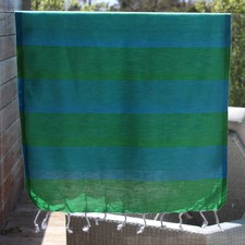 Tenedos Green & Turquoise Small Turkish Towel