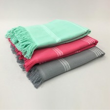 6 Pack Plain Cotton Turkish Towel