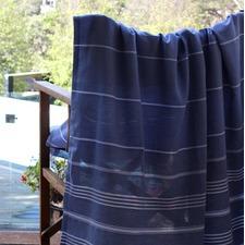 De La Mer Denim Blue Beach Blanket Turkish Towel
