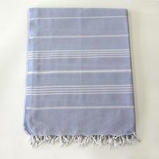 De La Mer Ice Blue Beach Blanket Turkish Towel