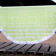 De La Mer Lime Green Round Turkish Towel