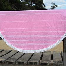 De La Mer Pink Round Turkish Towel