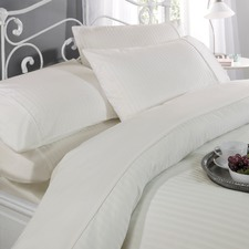 Cream 300TC Dobby Stripe Quilt Cover Set