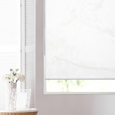 White Blackburn Translucent Roller Blind