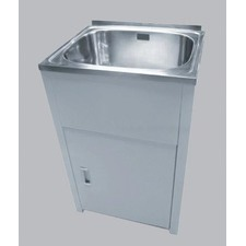35L Lavassa Free-Standing Laundry Tub  with 2 Holes and By Pass Kit