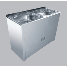 45L Lavassa Double  Bowl Laundry Tub with By Pass Kit