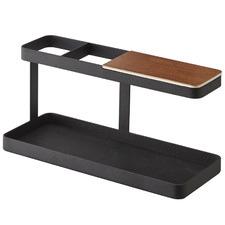 Yamazaki Metal & Wood Tower Desk Organiser