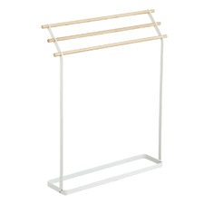 Tosca 3 Bar Metal & Wood Towel Hanger