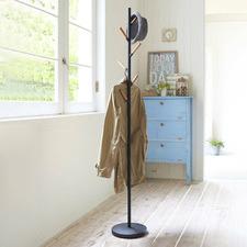 Yamazaki Pole Metal & Wood Coat Rack
