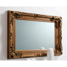 Carved Louis Mirror in Gold