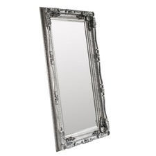 Silver Carved Louis Leaner Mirror