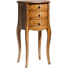 Coll D'Articles 3 Drawer Oval Side Table
