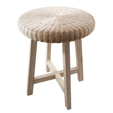 Natural Kew Chunky Round Side Table