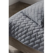 Cube Quilted Throw Grey