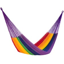 Queen Rainbow Outdoor Cotton Hammock