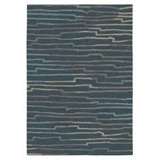 Kodari Graph Hand-Knotted Charcoal & Sand Rug