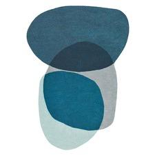 Blue Estella Swatch Shaped Wool Rug