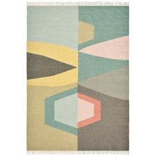 Mint Kashba Tipi Hand-Woven Wool Rug