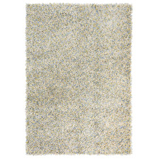 Yellow Young Hand-Tufted Pure New Wool Shag Rug
