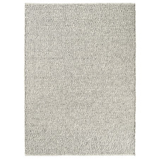 Grey & Off-White Tumble Hand-Woven Pure New Wool Rug