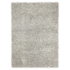 Off-White Young Hand-Tufted Pure New Wool Shag Rug