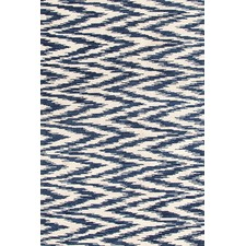 Multi Blue / Ivory Chekat Ink Rug