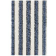Blue Awning Stripe Indoor Outdoor Rug