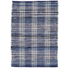 Denim Plaid Cotton Rug