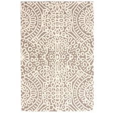 Taupe Temple Wool Rug