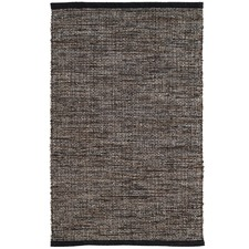 Black Grant Woven Cotton Rug
