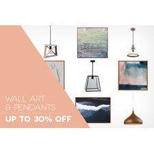 Wall Art & Pendant Lighting
