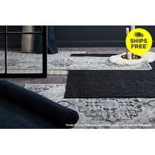 Monochrome rugs ship free