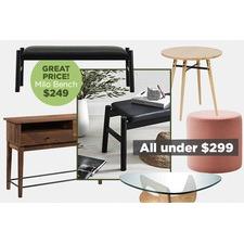 Modern living room essentials under $299