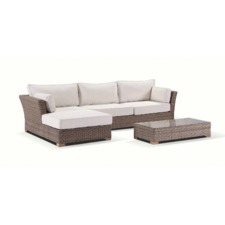 Coco 3 Seater PE Wicker Outdoor Lounge Set