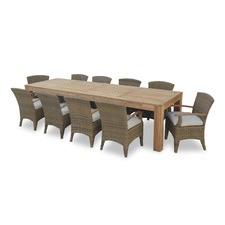 Entertainer 10 Seater Outdoor Teak Table with Kai Chairs