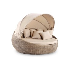 Extra Large Newport Round Daybed with Canopy
