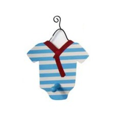 Baby with Sailor Stripes Single Wall Hook