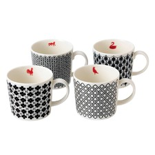 Royal Doulton Foulard Mug Set 4