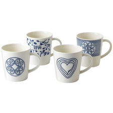 4 Piece Ellen DeGeneres by Royal Doulton Love 475ml Mug Set