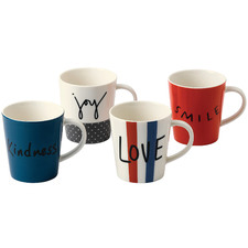 4 Piece Ellen DeGeneres Joy Accents by Royal Doulton 450ml Mug Set