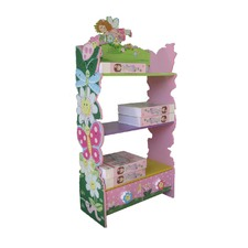 Hand Paint Wooden Flower Bookcase